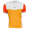Women`s Stella McCartney Barricade Cap Sleeve Tennis Top Joy Orange and White by ADIDAS