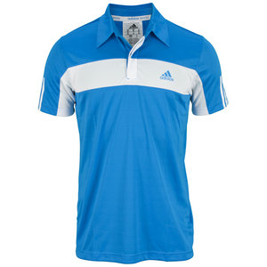 adidas MENS GALAXY POLO SOLAR BLUE/WHITE