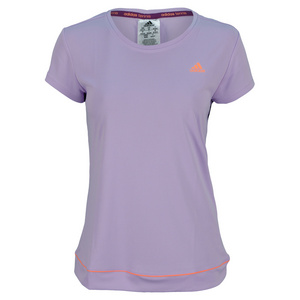 adidas WOMENS GALAXY TENNIS TEE GLOW PURPLE