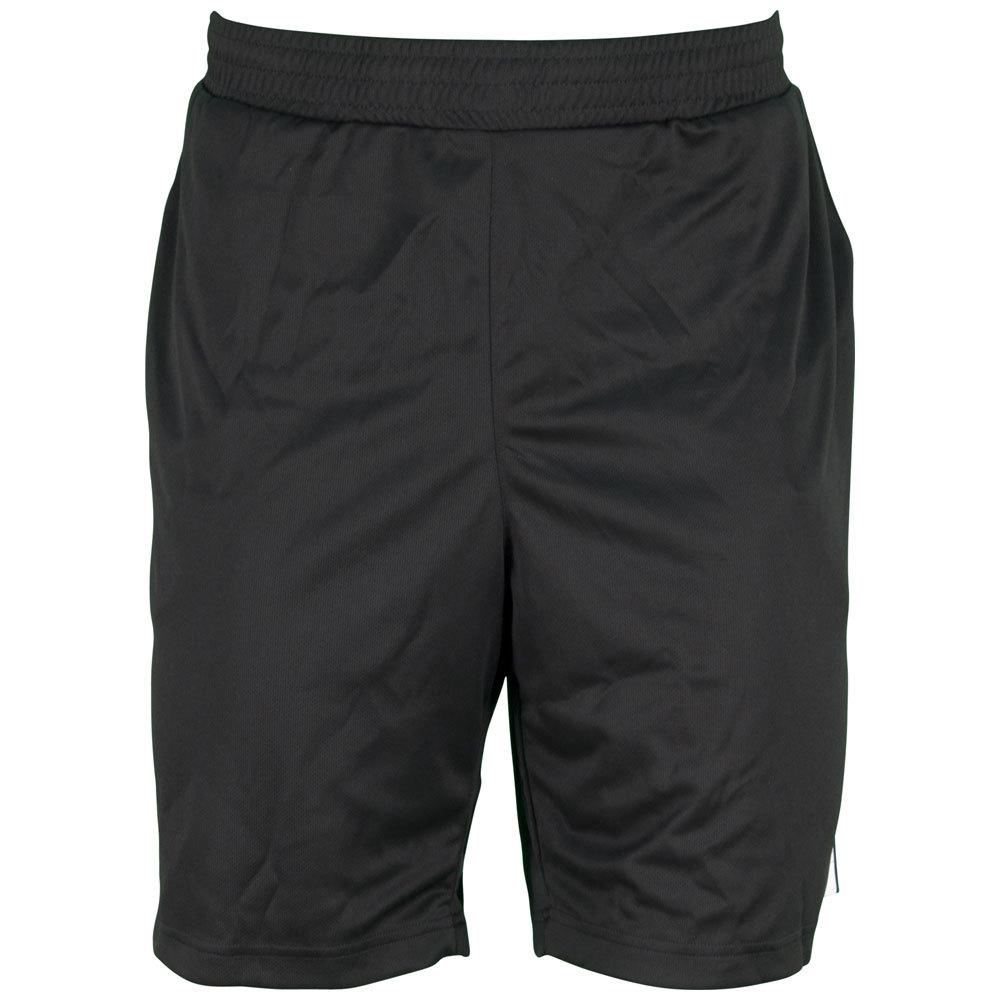 Men`s Galaxy 9.5 Inch Tennis Short Black and White