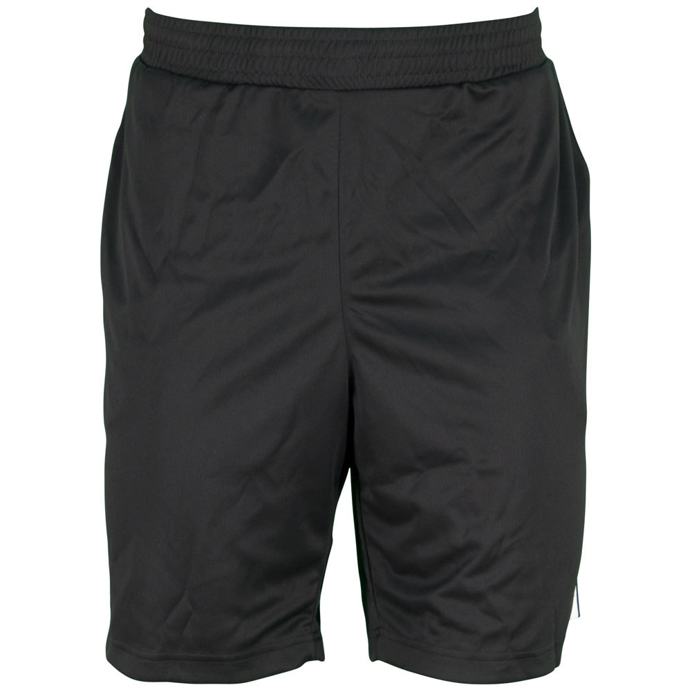 Men`s Galaxy 9.5 Inch Tennis Short Black and White