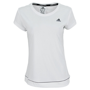 adidas WOMENS GALAXY TENNIS TEE WHITE/BLACK