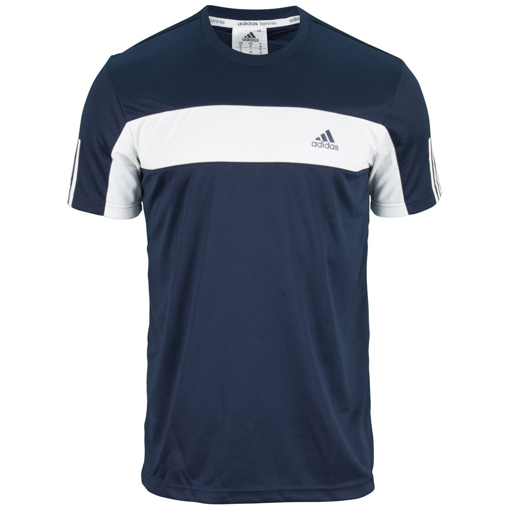 Men's Galaxy Tennis Tee Collegiate Navy And White