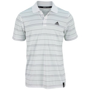 adidas MENS TENNIS SEQUENCLS STRIPED POLO WH/BK