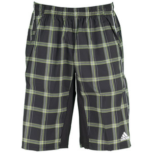 adidas MENS SEQUN PLAID BERMUDA SHORT BK/BAH GL