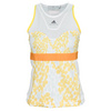 ADIDAS Women`s Stella McCartney Barricade Tennis Tank White and Wonder Glow