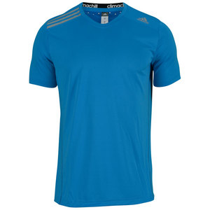 adidas MENS CLIMA CHILL TENNIS TEE SOLAR BLUE