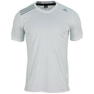 adidas MENS CLIMA CHILL TENNIS TEE WHITE