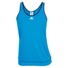 ADIDAS Women`s Galaxy Tennis Tank Solar Blue
