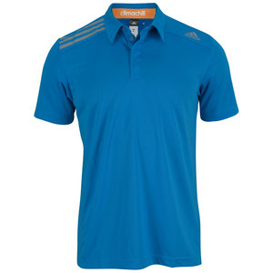 adidas MENS CLIMA CHILL TENNIS POLO SOLAR BLUE