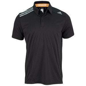 adidas MENS CLIMA CHILL TENNIS POLO BLACK