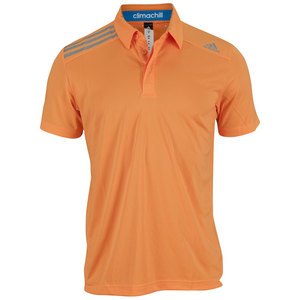 adidas MENS CLIMA CHILL TENNIS POLO SOLAR ZEST