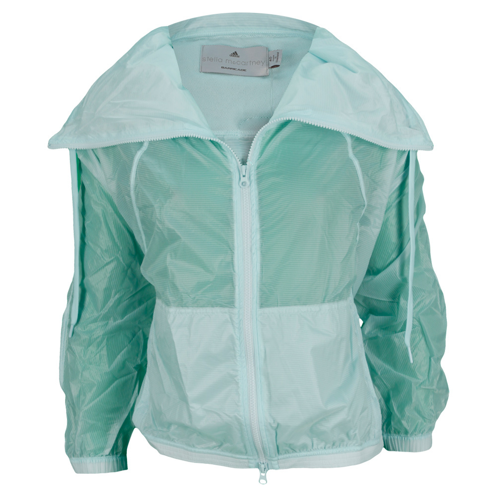 Women`s Stella McCartney Barricade Warm Up Tennis Jacket Fresh Aqua