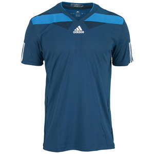 adidas MENS ADIPOWER BARR CREW TEE TRIBE BLUE