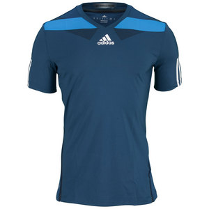 adidas MENS ADIPR BARR SEMI FITTED TEE TRIBE BL