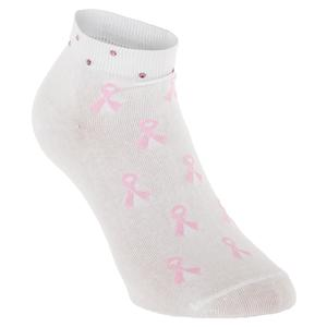 Rhinestone Pink Ribbon Women`s Socks (4-10)