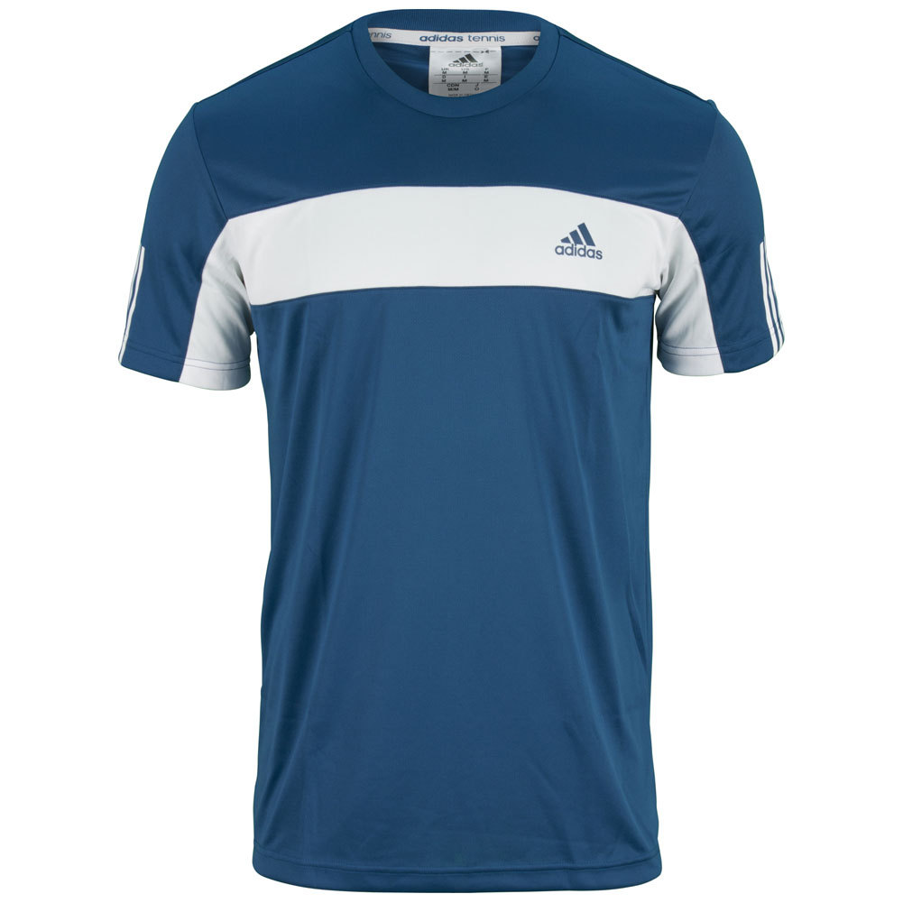 Men's Galaxy Tennis Tee Tribe Blue And White
