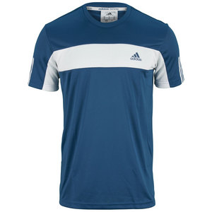 adidas MENS GALAXY TEE TRIBE BLUE/WHITE