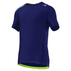 adidas MENS CLIMA CHILL TENNIS TEE NIGHT BLUE