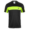 ADIDAS Men`s Galaxy Tennis Tee Black and Solar Slime