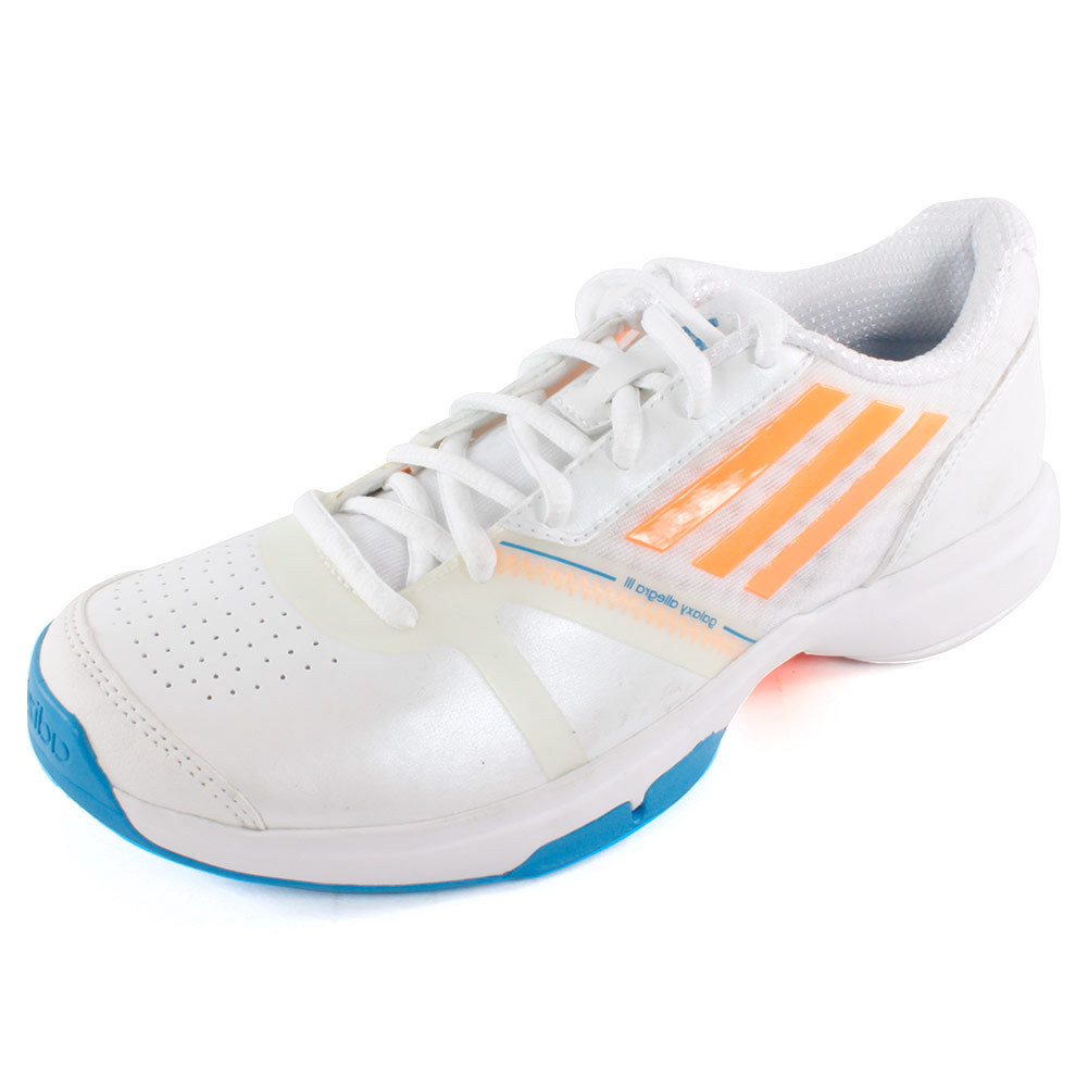 adidas s galaxy allegra tennis shoes white and glow
