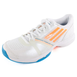 adidas WOMENS GALAXY ALLEGRA SHOES WHITE/ORANGE
