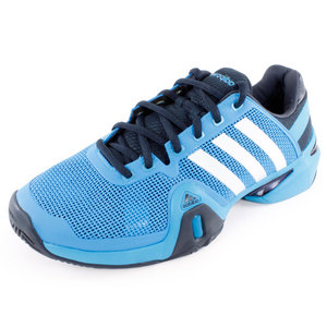 adidas MENS ADIPOWER BARRICADE 8 SHOES SOLAR BL