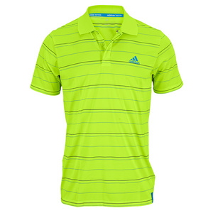 adidas MENS SEQUENCLS STRIPED POLO BAHIA GLO/BL