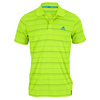 ADIDAS Men`s Tennis Sequencials Striped Polo Bahia Glow and Solar Blue