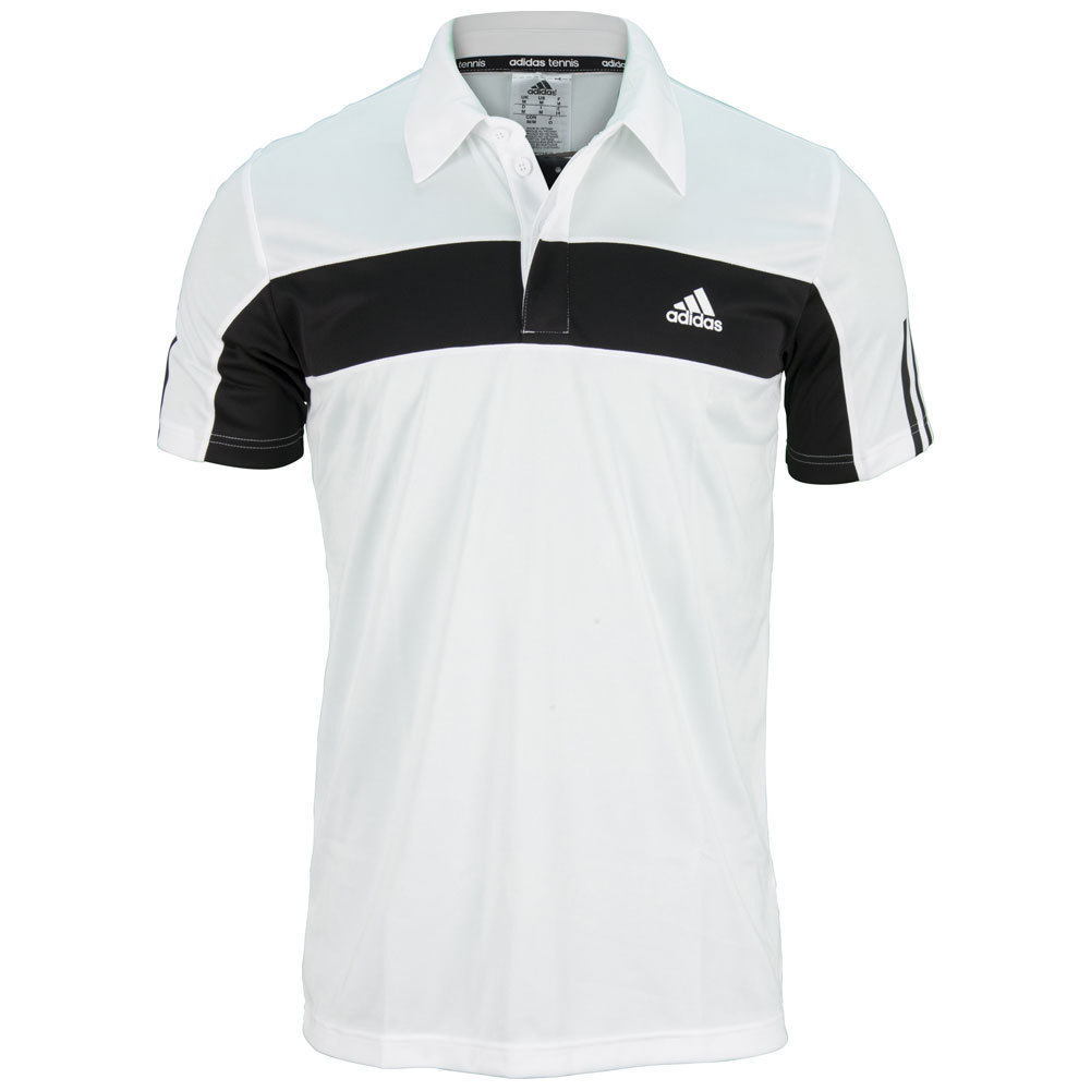 Men`s Galaxy Tennis Polo White and Black