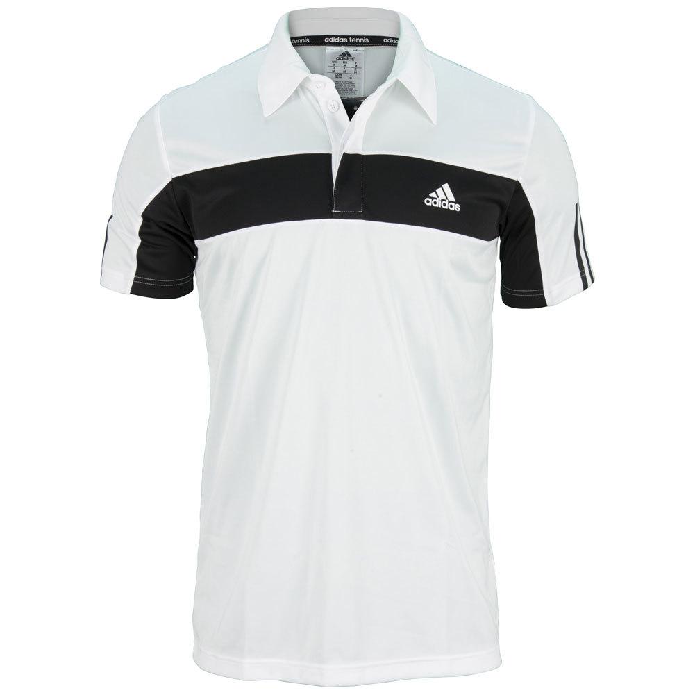 Men's Galaxy Tennis Polo White And Black