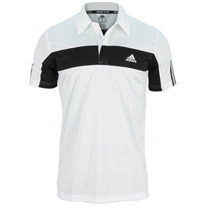adidas MENS GALAXY POLO WHITE/BLACK