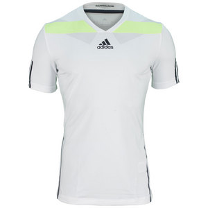 adidas MENS ADIPR BARR SEMI FITTED TEE WH/SLM
