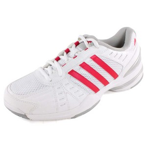 adidas WOMENS RESP RALLY COURT SHOES WH/BERRY