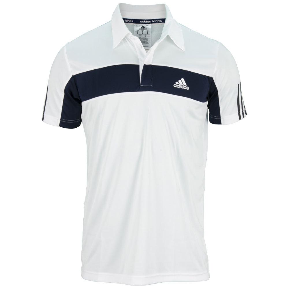 Men's Galaxy Tennis Polo White And Collegiate Navy