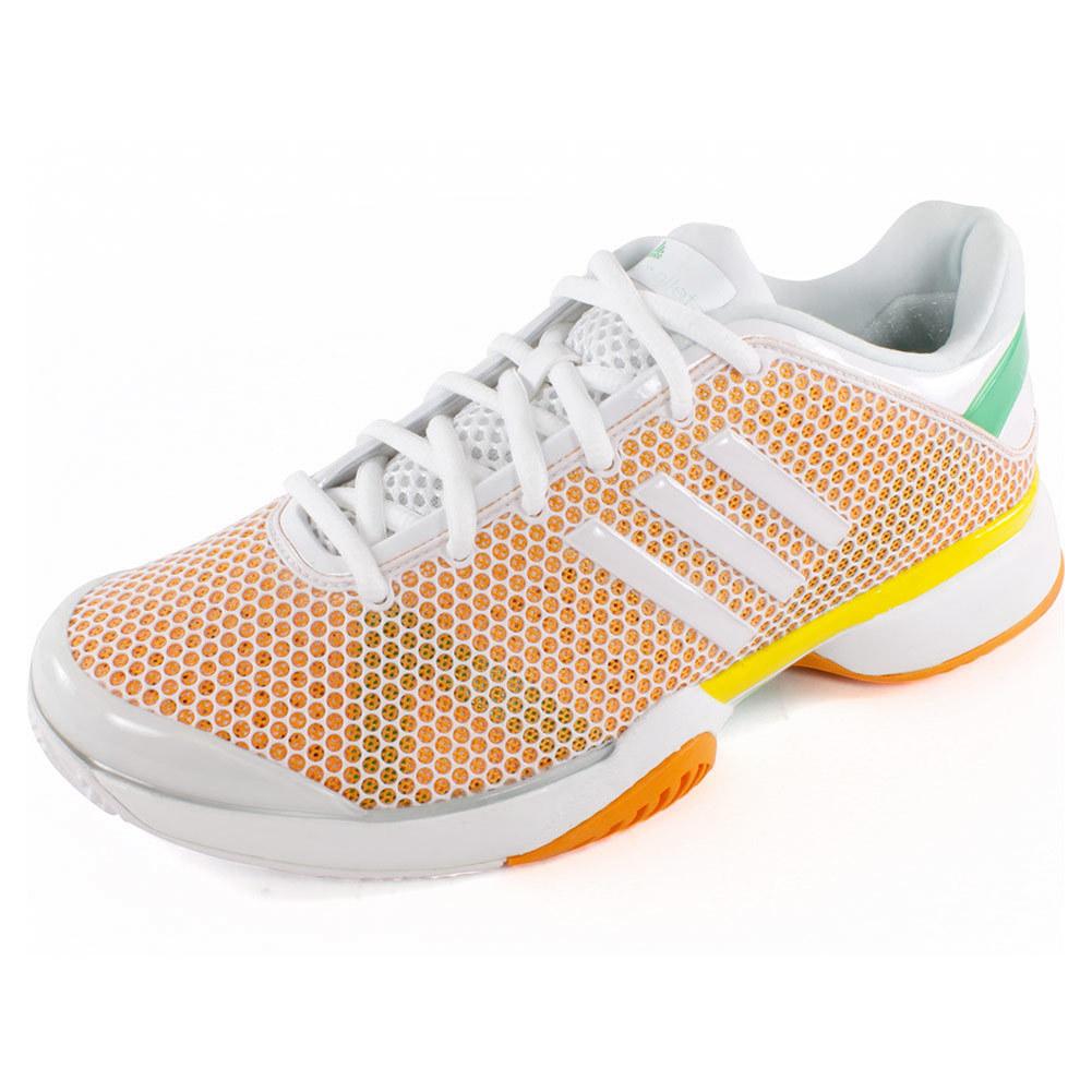 Women's Stella Mccartney Barricade Tennis Shoes Fresh Aqua And Joy Orange