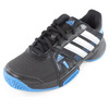 ADIDAS Junior`s Adipower Barricade Team 3 Tennis Shoes Black and Metallic Silver