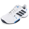 ADIDAS Junior`s Adipower Barricade Team 3 Tennis Shoes White and Night Shade