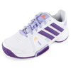 ADIDAS Junior`s Adipower Barricade Team 3 Tennis Shoes White and Tribe Purple
