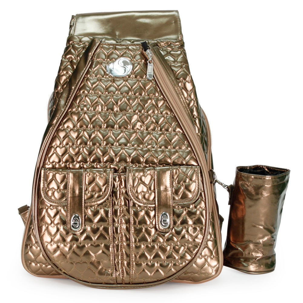I ` M In Love Bronze Tennis Backpack