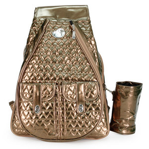 WHAK SAK I`M IN LOVE BRONZE TENNIS BACKPACK