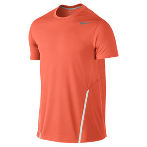 NIKE MENS POWER UV TENNIS CREW TURF ORANGE