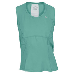 NIKE WOMENS POWER TENNIS TANK DIFFUSED JADE