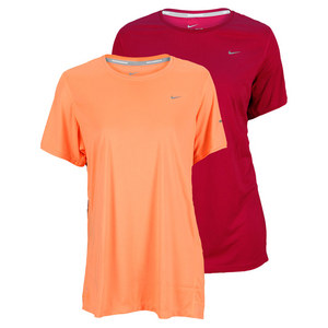 NIKE WOMENS EXT SHORT SLEEVE MILER RUN TEE
