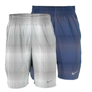 NIKE MENS GLADIATOR 10 IN PLAID TENNIS SHORT