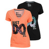 NIKE Women`s Just Do It Clash V Neck Training Tee