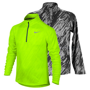 NIKE BOYS ELEMENT JACQUARD HALF ZIP RUN TOP