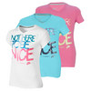 NIKE Girls` Not Here To Be Nice V Neck Tee