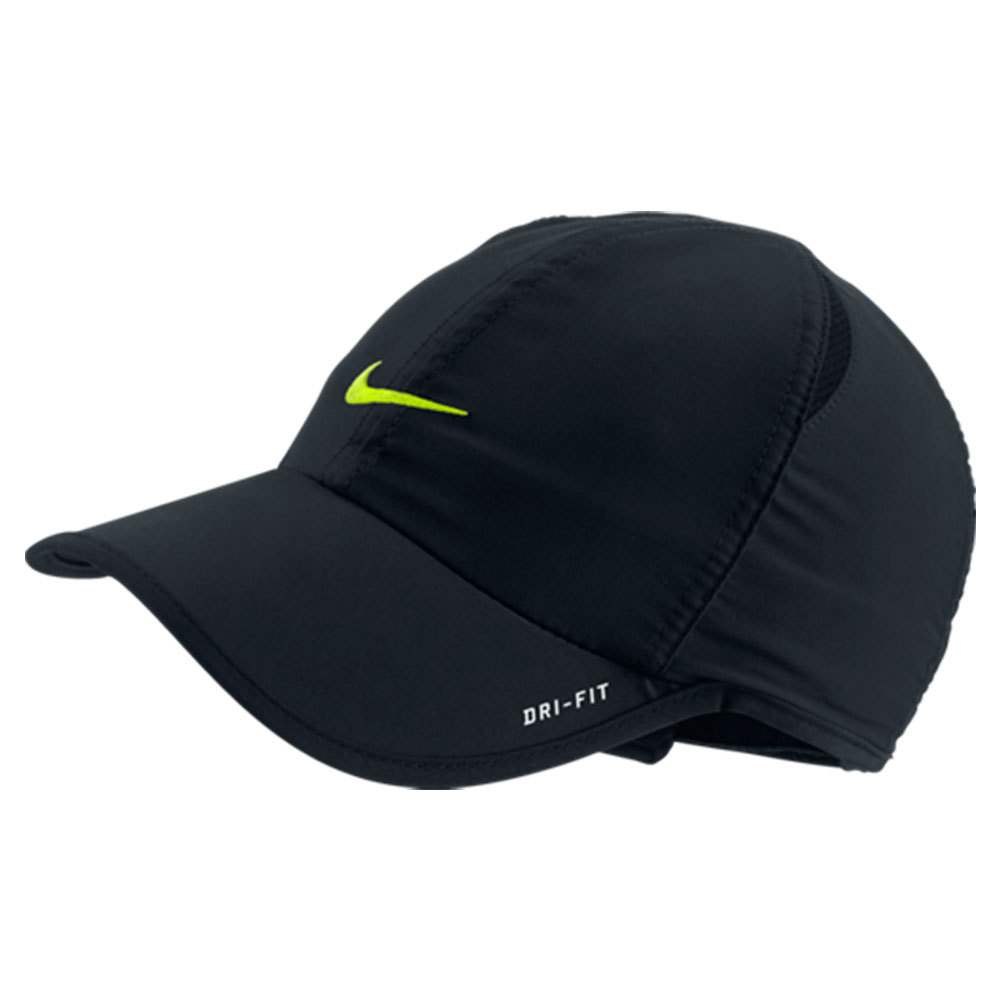 Young Athletes Featherlight Tennis Cap Black And Volt