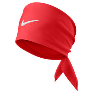 NIKE TENNIS SWOOSH BANDANA LIGHT CRIMSON